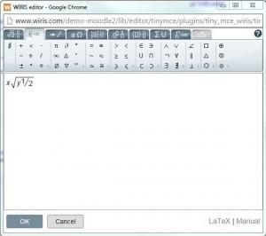 Plugin WIRIS no Editor de Textos Atto (Moodle)